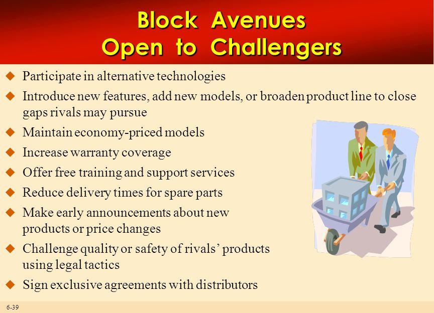 Block Avenues Open to Challengers