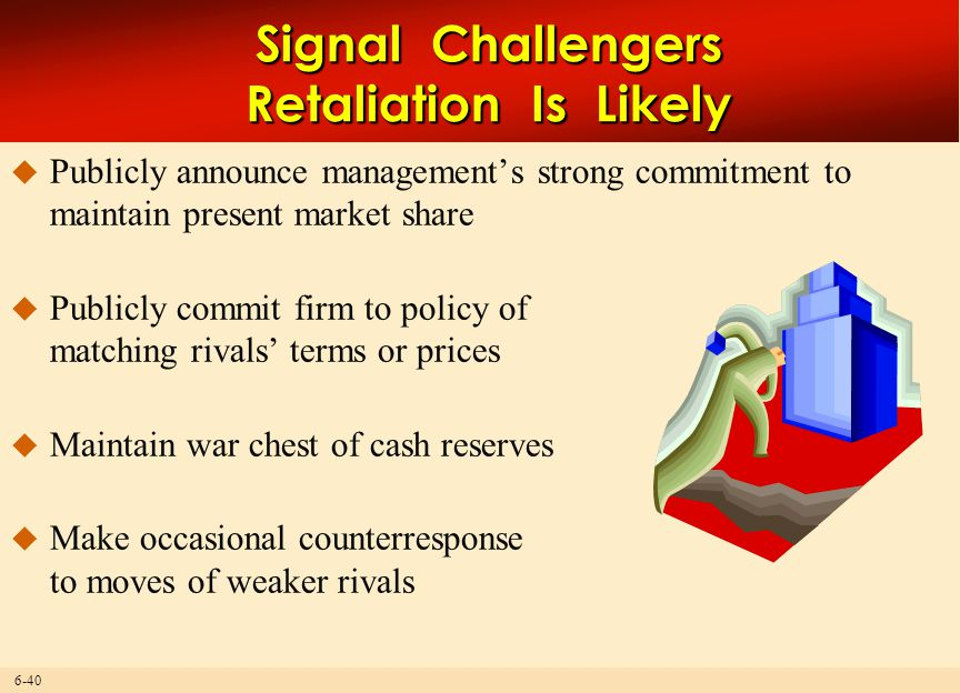 Signal Challengers Retaliation Is Likely