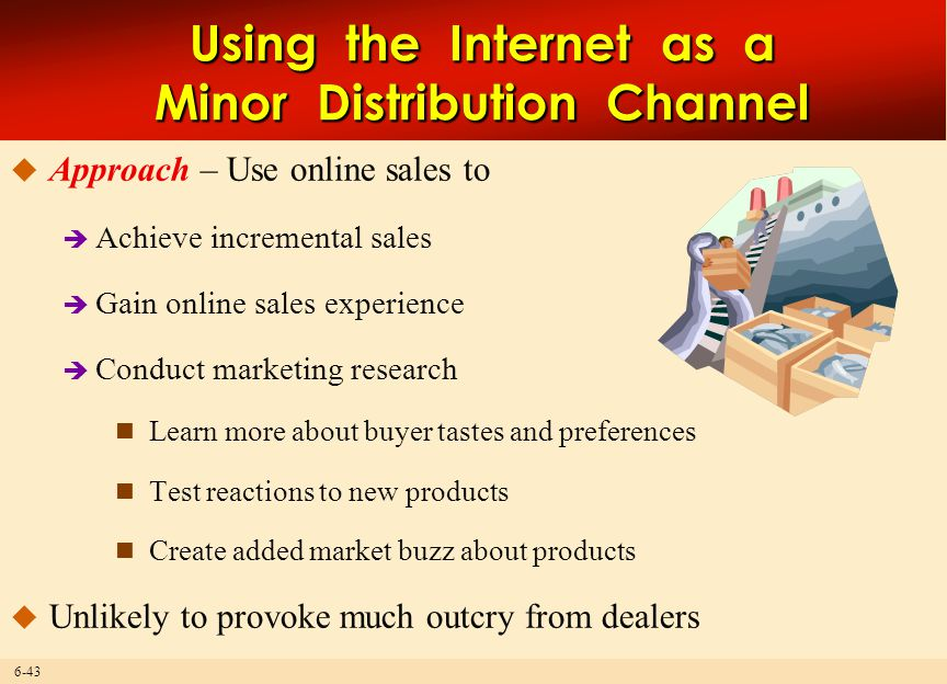 Using the Internet as a Minor Distribution Channel