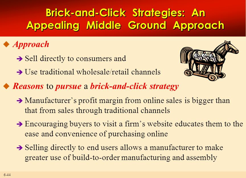 Brick-and-Click Strategies: An Appealing Middle Ground Approach