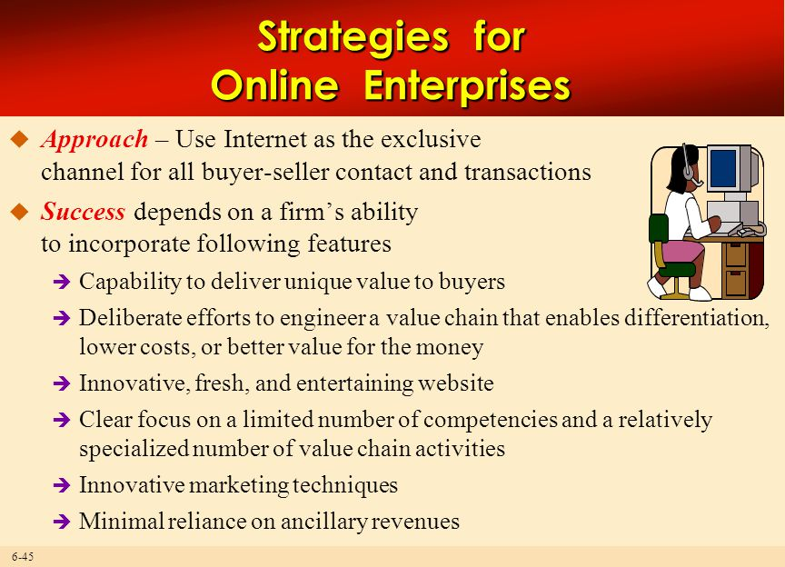 Strategies for Online Enterprises