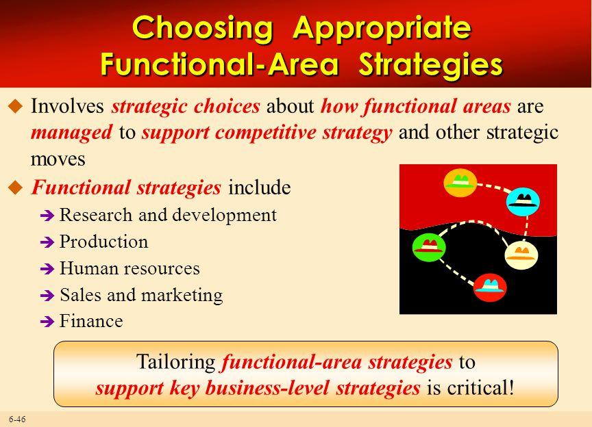 Choosing Appropriate Functional-Area Strategies