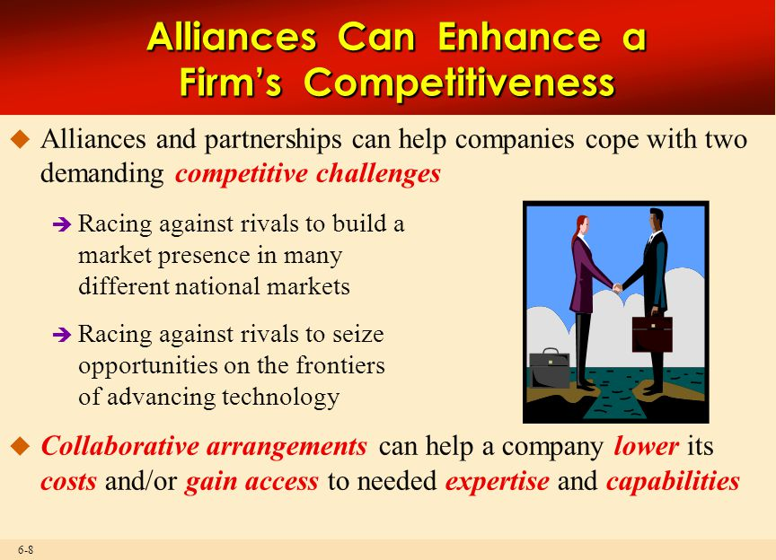 Alliances Can Enhance a Firm's Competitiveness