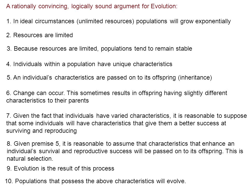 A rationally convincing, logically sound argument for Evolution: