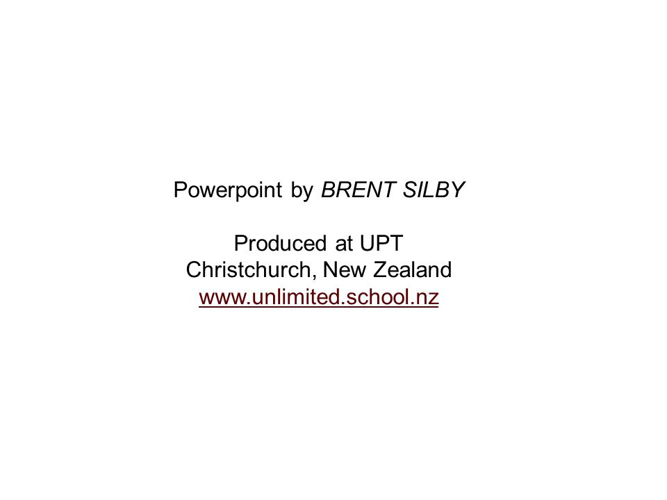 Powerpoint by BRENT SILBY