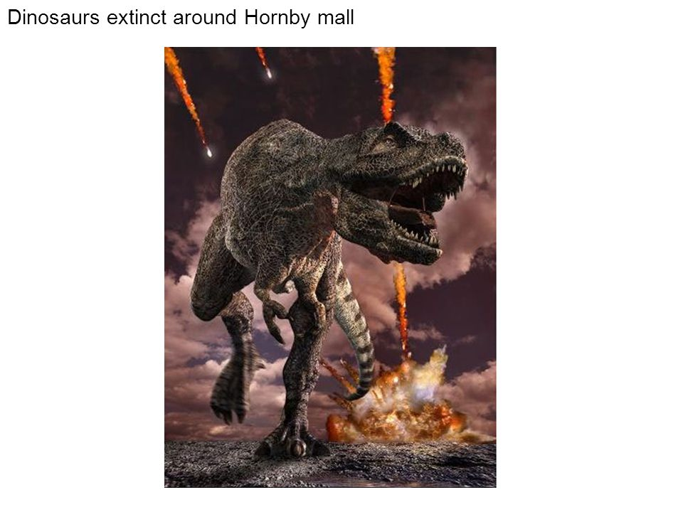 Dinosaurs extinct around Hornby mall