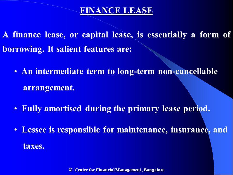  Centre for Financial Management , Bangalore