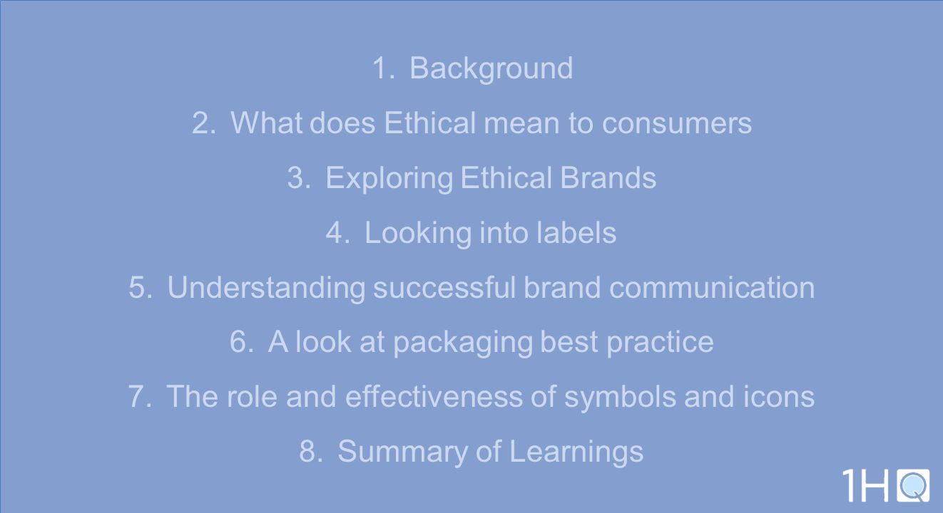 What does Ethical mean to consumers Exploring Ethical Brands