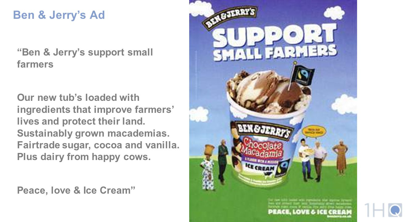 Ben & Jerry's Ad Ben & Jerry's support small farmers