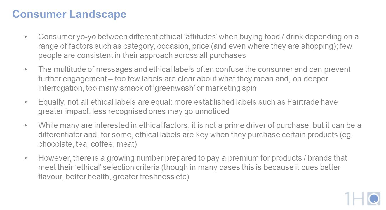 Consumer Landscape