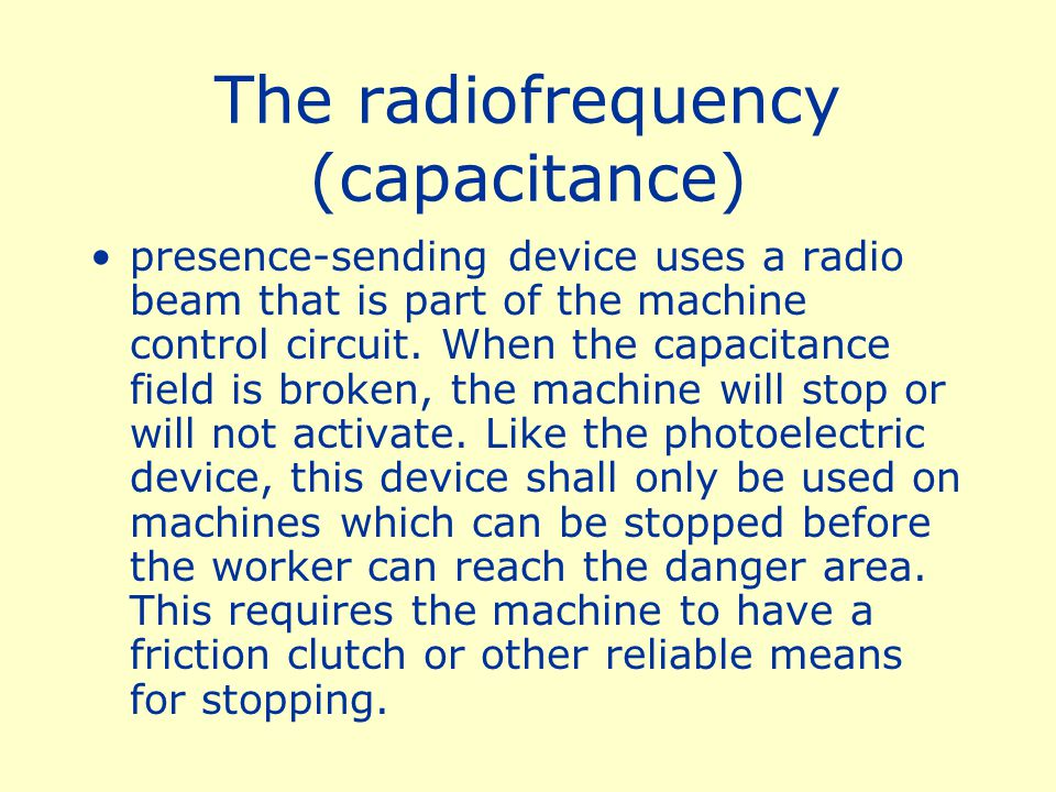 The radiofrequency (capacitance)