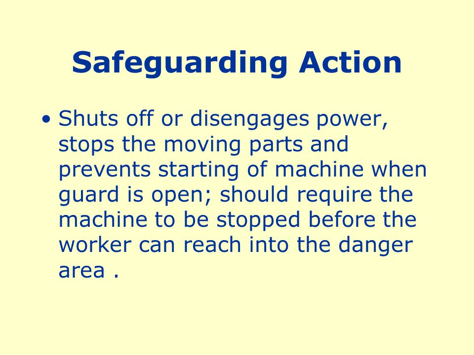 Safeguarding Action
