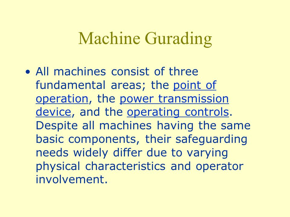 Machine Gurading