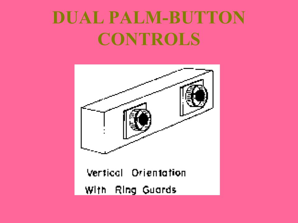 DUAL PALM-BUTTON CONTROLS