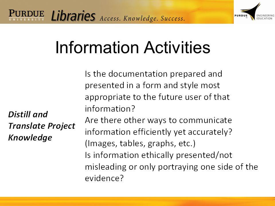 Information Activities