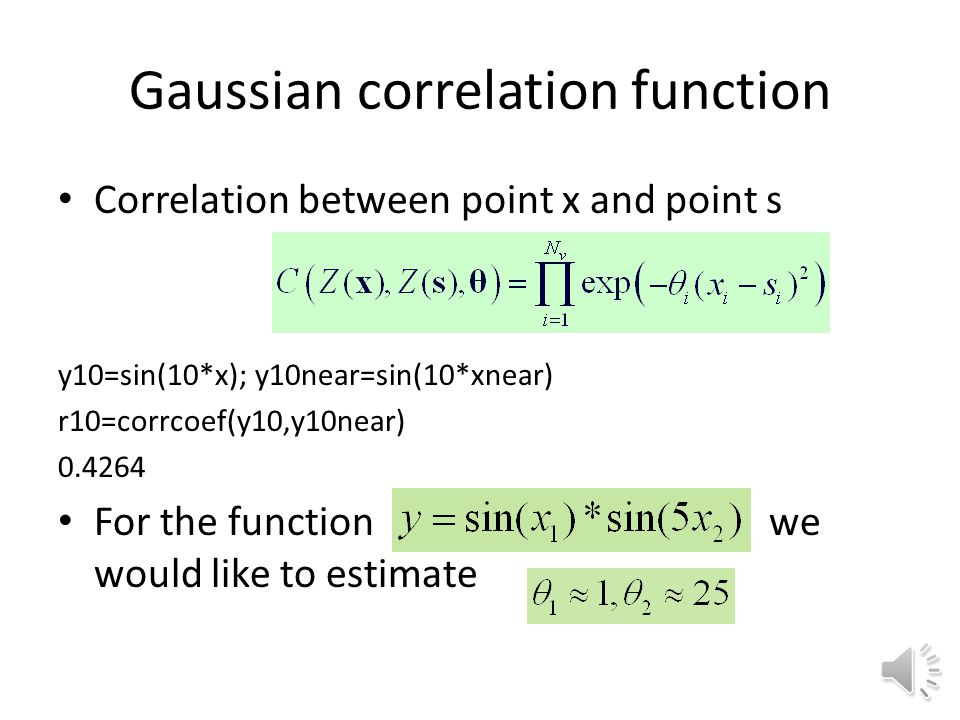Gaussian correlation function