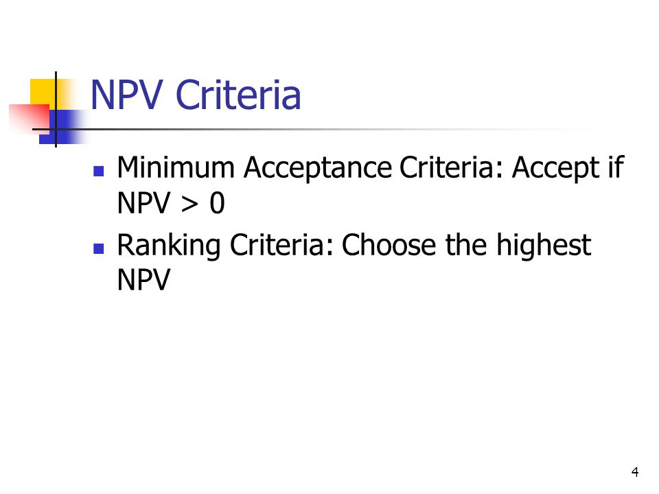 Good Attributes of the NPV Rule