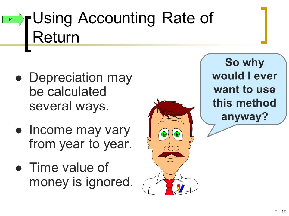 Using Accounting Rate of Return