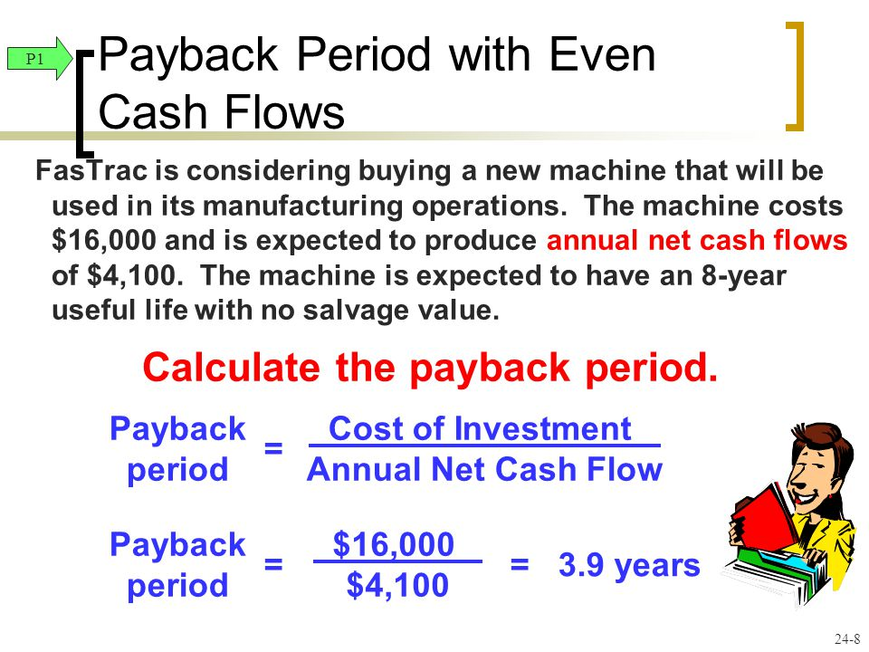 Payback Period with Even Cash Flows
