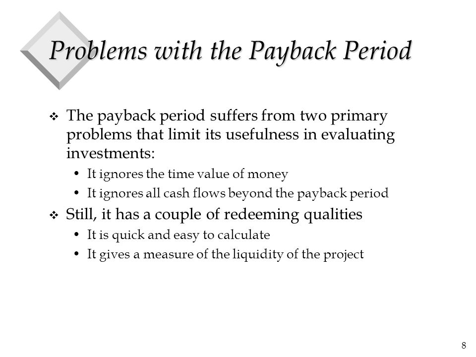 Problems with the Payback Period