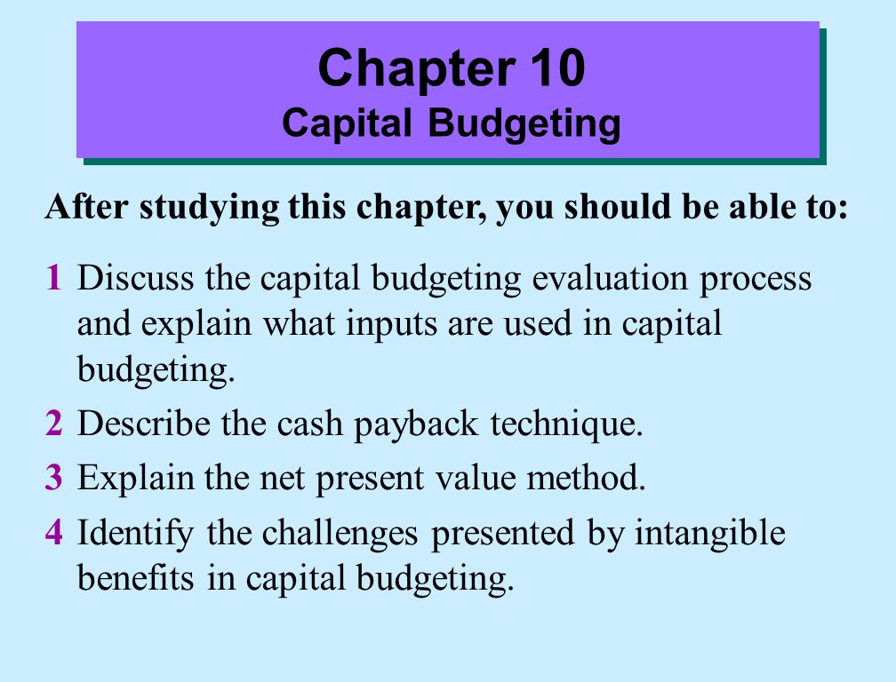 advantages of capital budgeting