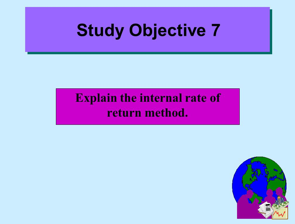 Explain the internal rate of return method.