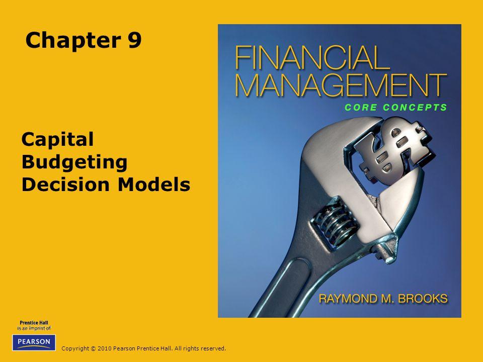 Capital Budgeting Decision Models