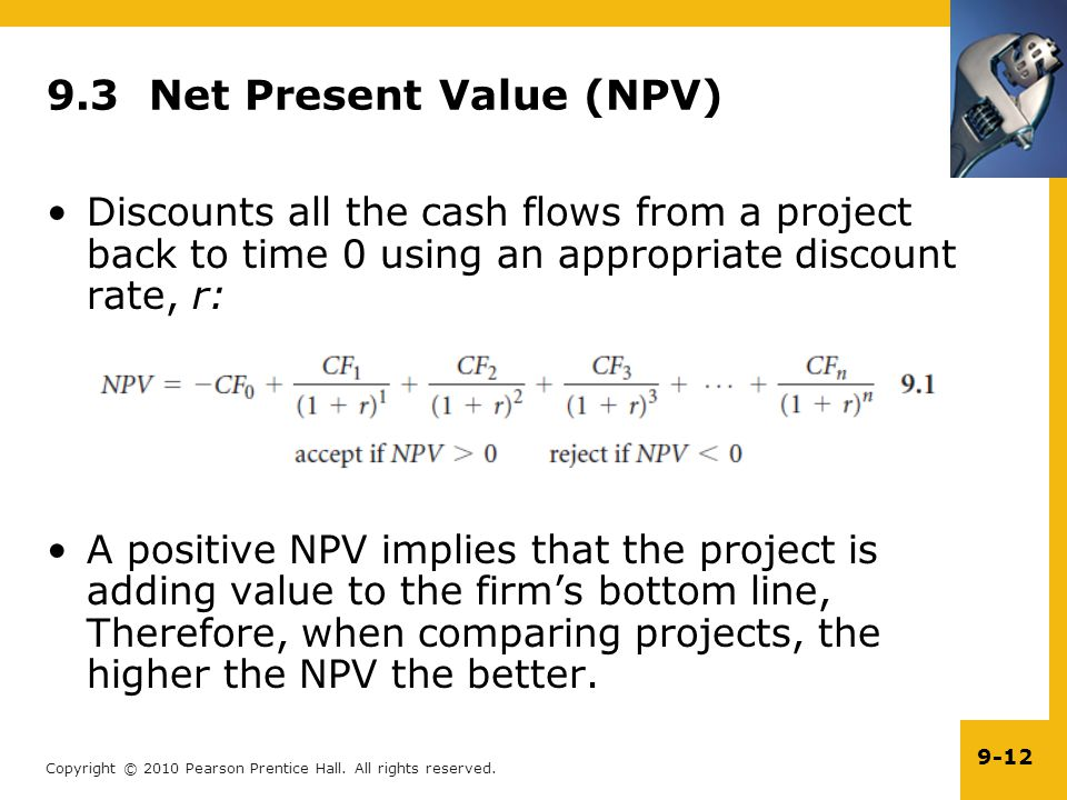 9.3 Net Present Value (NPV)