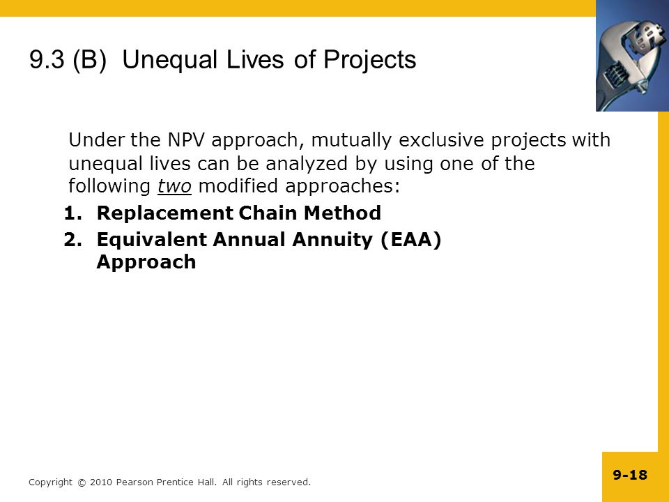 9.3 (B) Unequal Lives of Projects