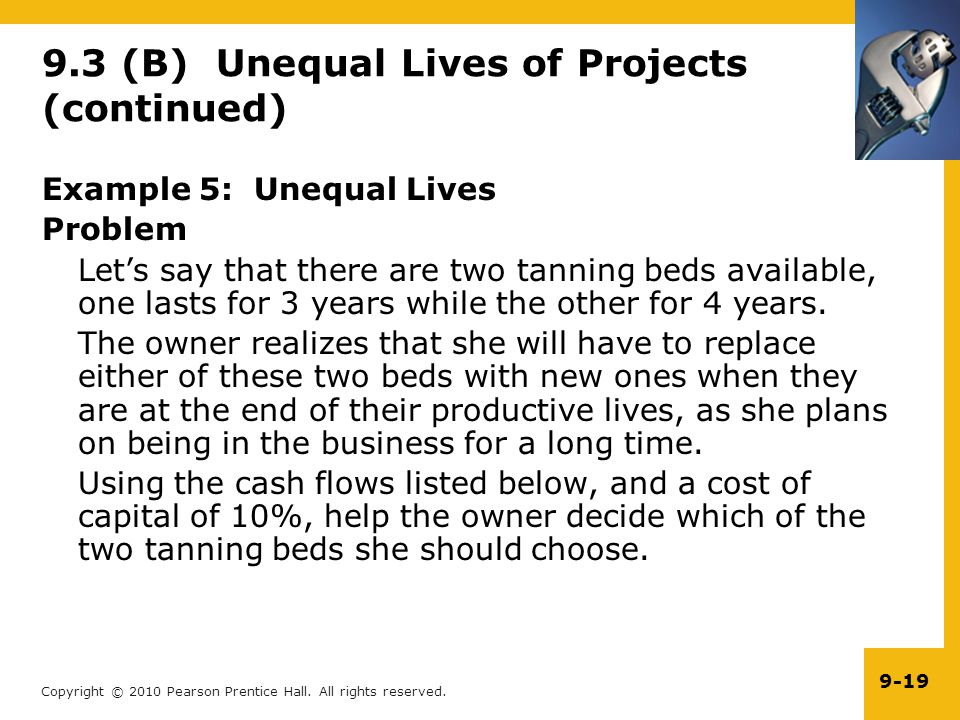 9.3 (B) Unequal Lives of Projects (continued)
