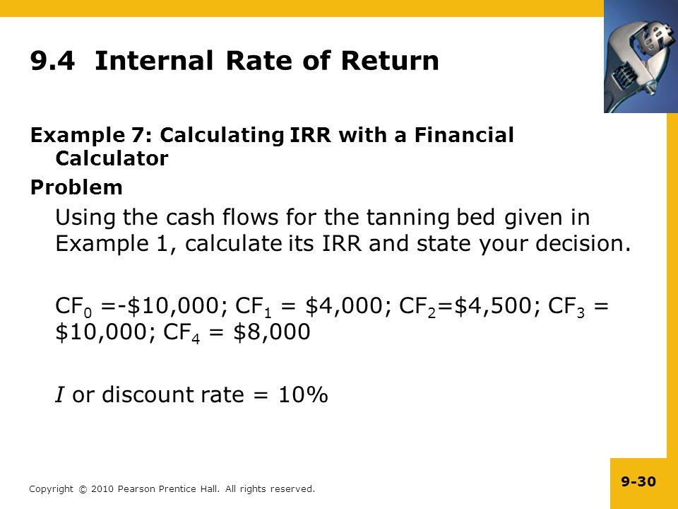 9.4 Internal Rate of Return