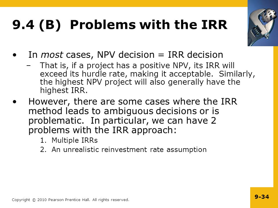 9.4 (B) Problems with the IRR