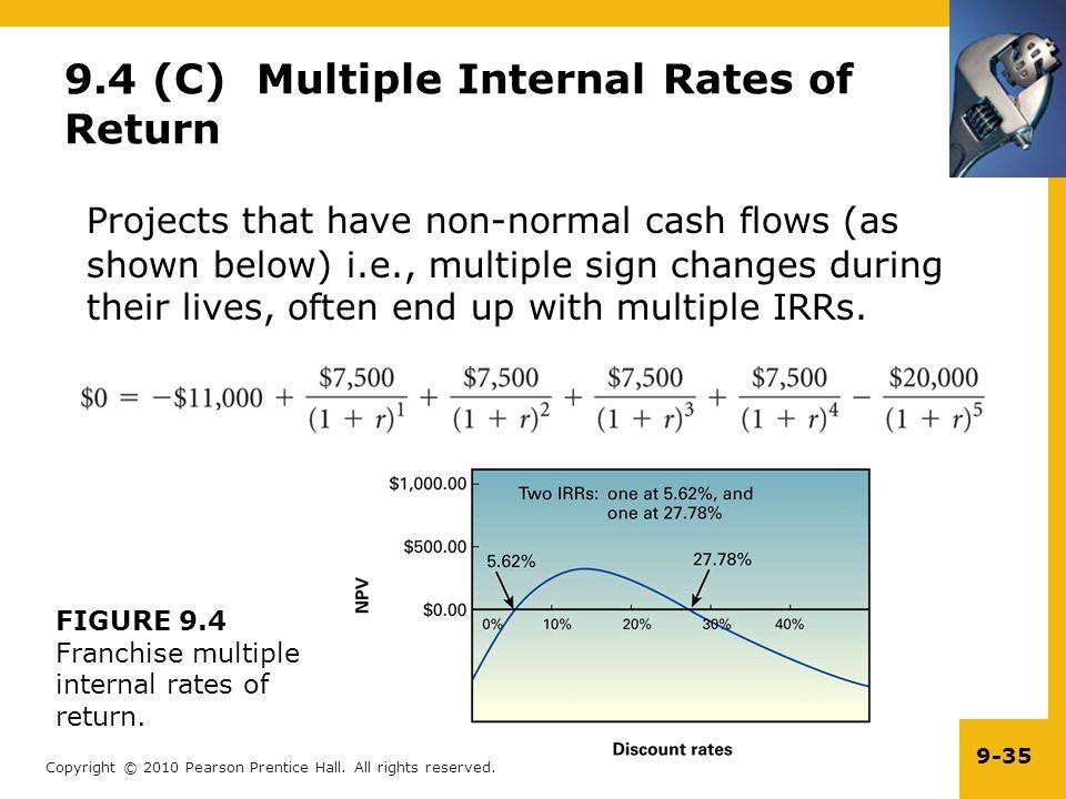 9.4 (C) Multiple Internal Rates of Return