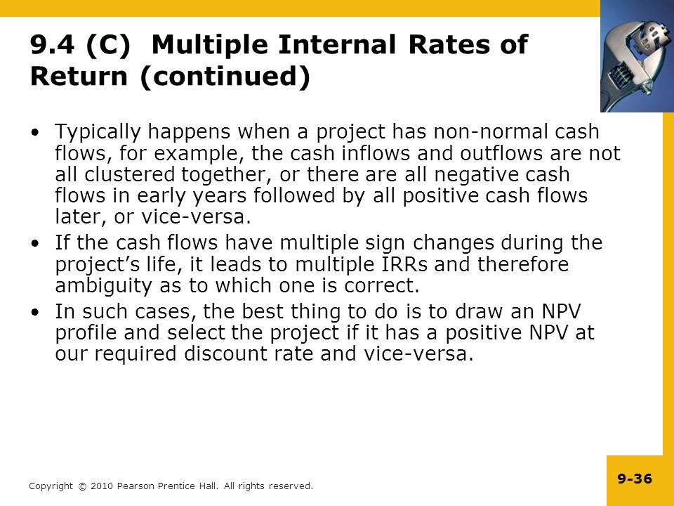 9.4 (C) Multiple Internal Rates of Return (continued)