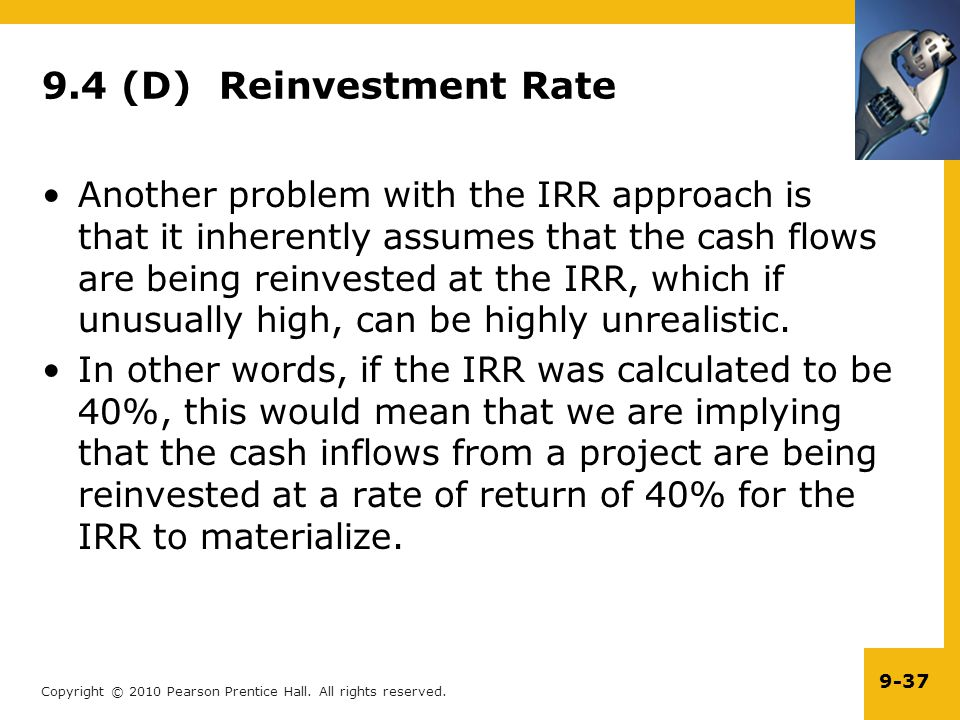 9.4 (D) Reinvestment Rate