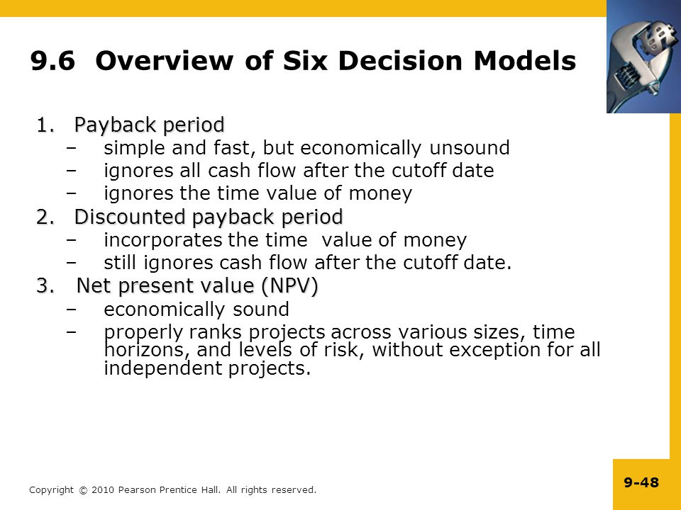 9.6 Overview of Six Decision Models