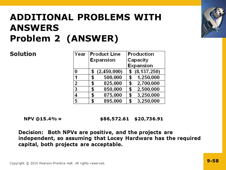 ADDITIONAL PROBLEMS WITH ANSWERS Problem 2 (ANSWER)