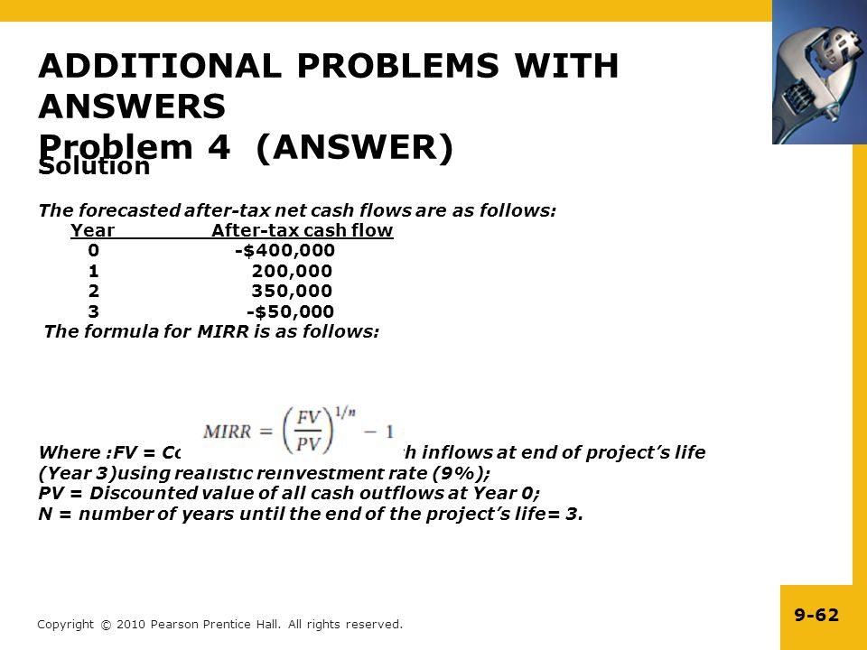 ADDITIONAL PROBLEMS WITH ANSWERS Problem 4 (ANSWER)