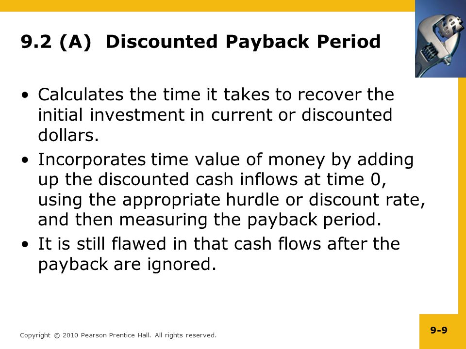 9.2 (A) Discounted Payback Period