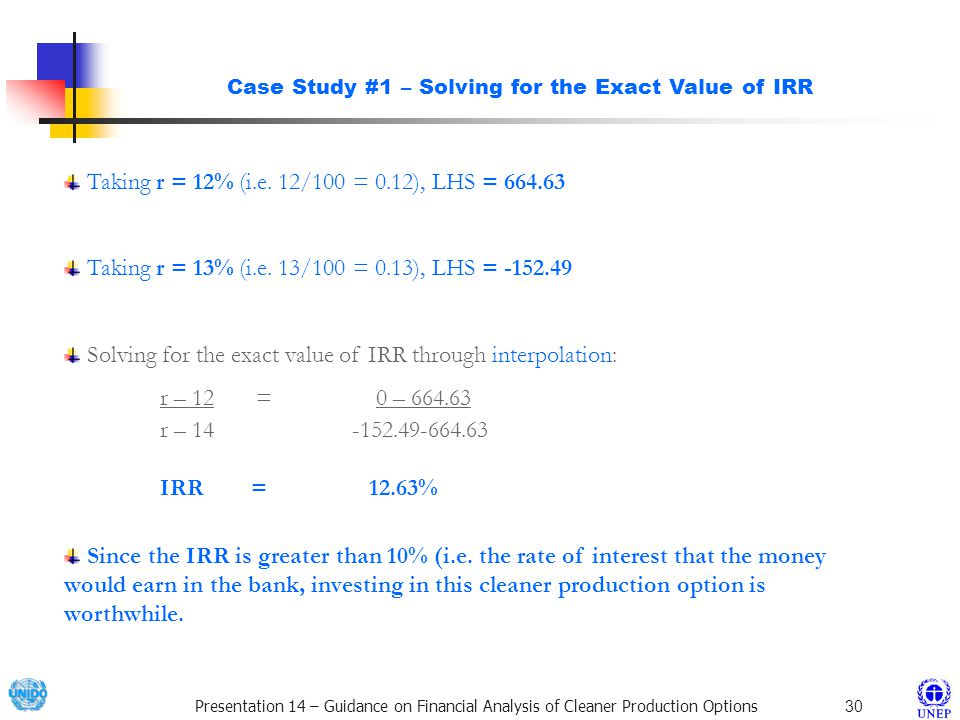 Case Study #1 – Solving for the Exact Value of IRR