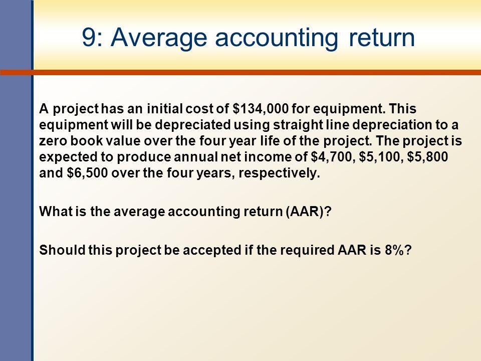 9: Average accounting return