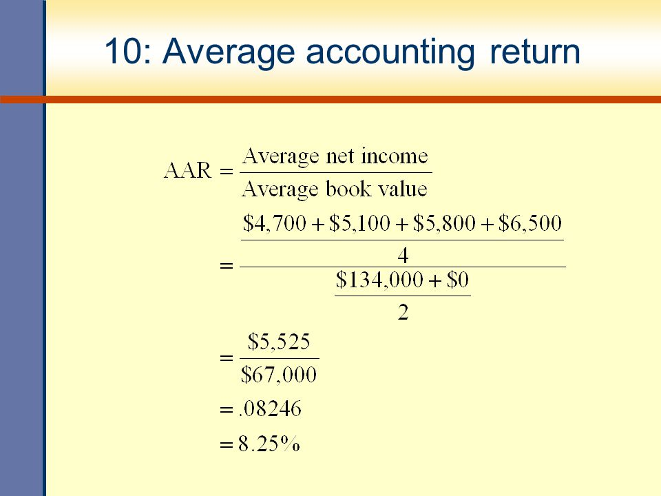 10: Average accounting return