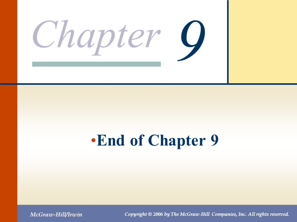 9 End of Chapter 9