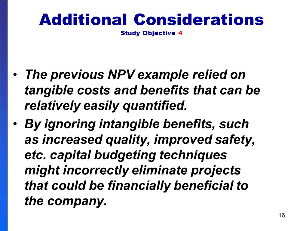 Additional Considerations Study Objective 4