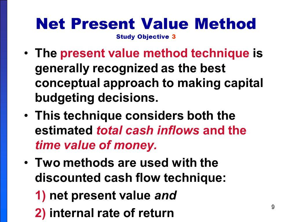 Net Present Value Method Study Objective 3