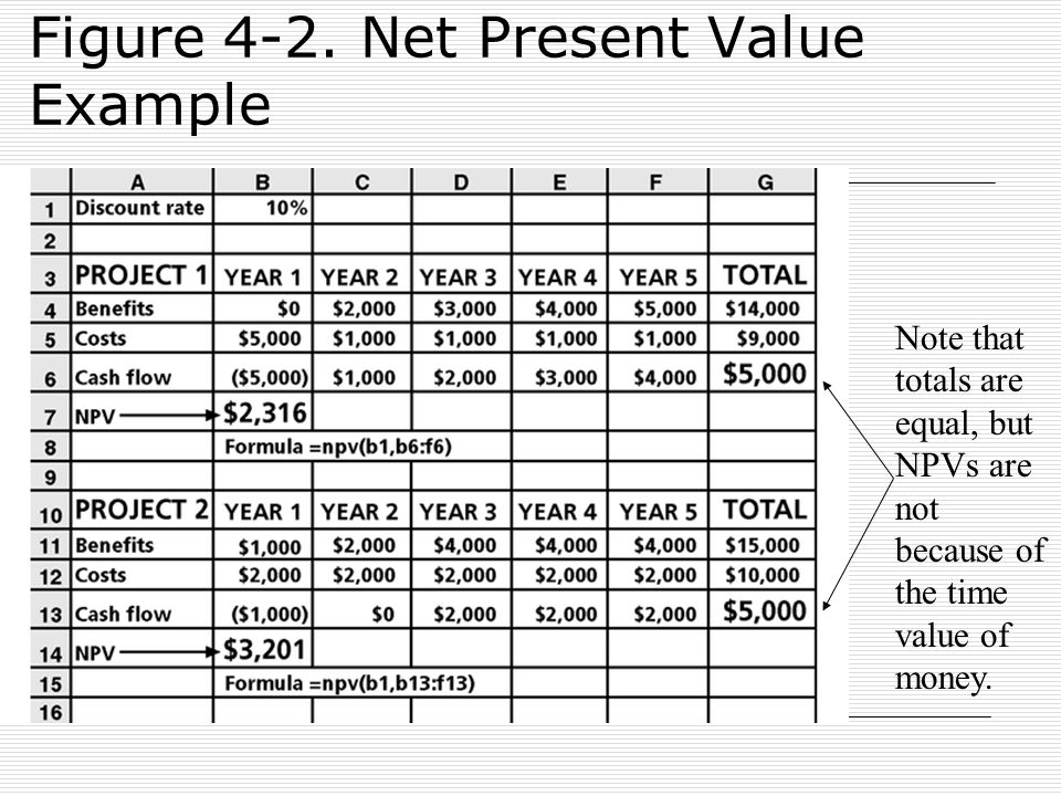Figure 4-2. Net Present Value Example