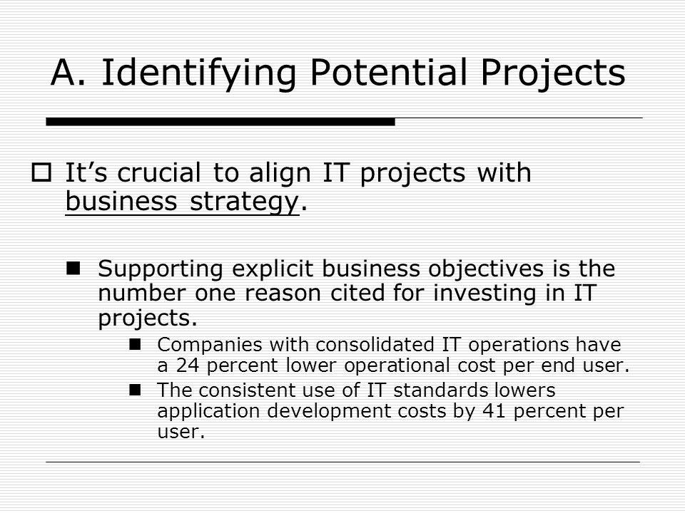 A. Identifying Potential Projects