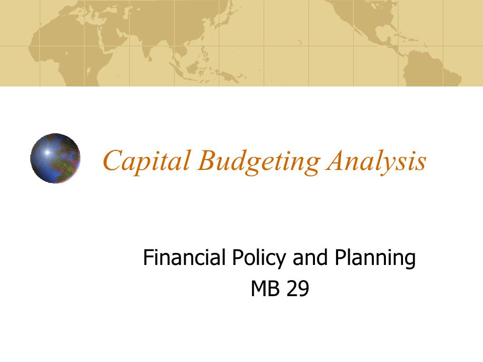 Capital Budgeting Analysis