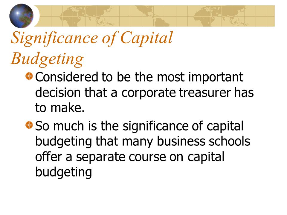 Significance of Capital Budgeting