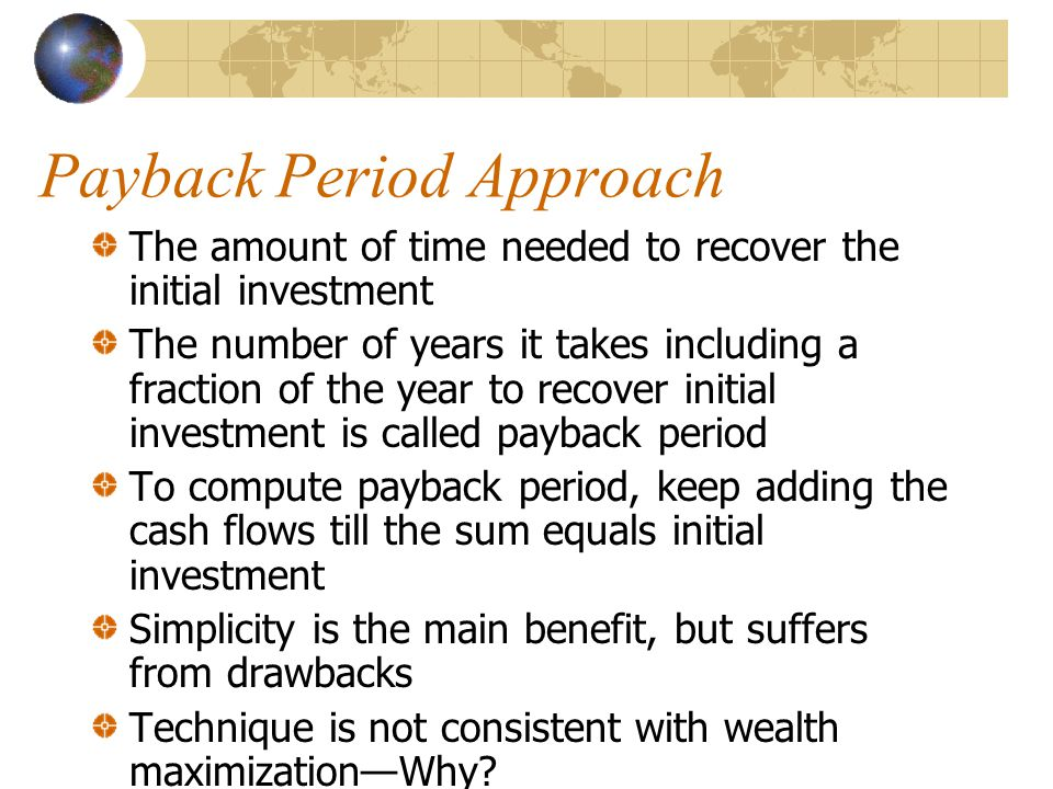 Payback Period Approach